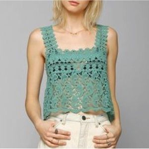 Urban Outfitters Stars in the Sky Crochet tank